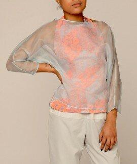 Блуза двухслойная из шелка