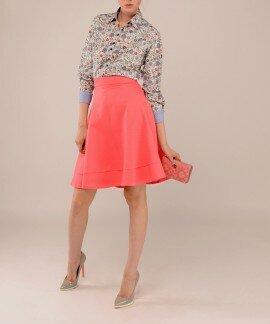 Коралловая юбка полусолнце