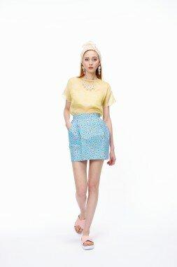 Мини юбка тюльпан