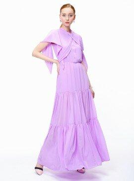 Платье многоярусное в пол