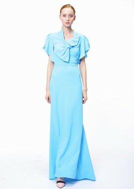 Платье в пол облегающее