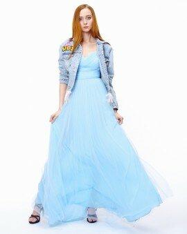 Платье в пол с пышной юбкой