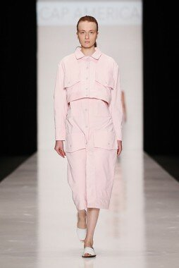 Платье-халат на кнопках из вельвета