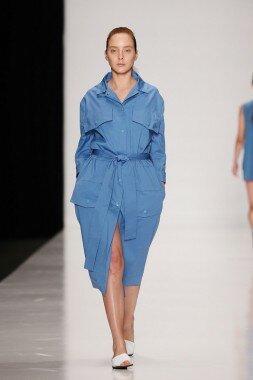 Платье-халат на кнопках